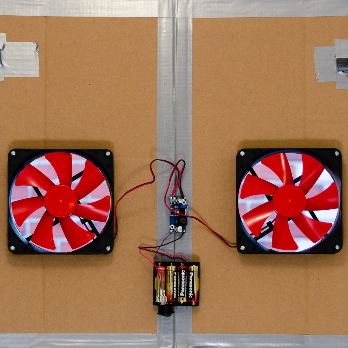 Battery powered window fan prototype
