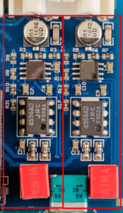 Sabaj PHA1 PCB audio section annotated